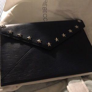 Rebecca Minkoff navy envelope clutch
